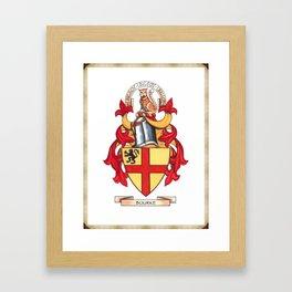 Bourke Family Coat of Arms Framed Art Print