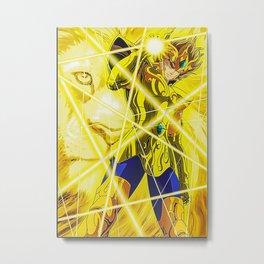 Leo Gold Knight Metal Print