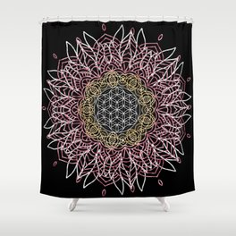 Moon Mandala Shower Curtain
