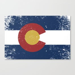 Distressed Colorado Flag Canvas Print