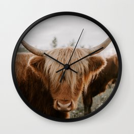 Highland Cattle 1987 Wall Clock