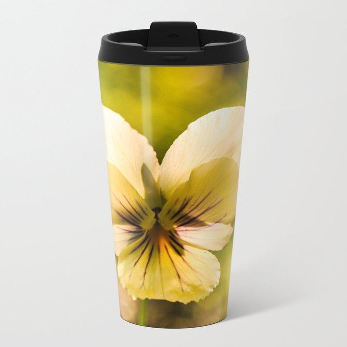 Viola flower Metal Travel Mug