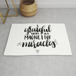 A Grateful Heart is a Magnet for Miracles Rug