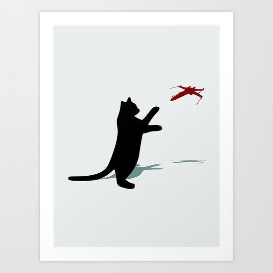 Cat and X-Wing Art Print