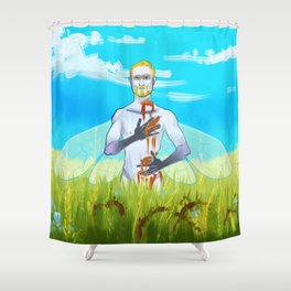Dead Once Upon A Time Shower Curtain