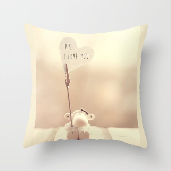p.s i love you Throw Pillow