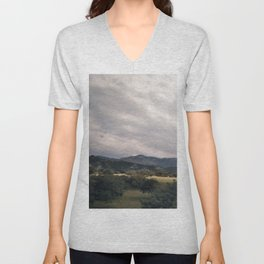 Cypress mountains and forests Unisex V-Neck