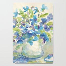 Flowers in pitcher Cutting Board