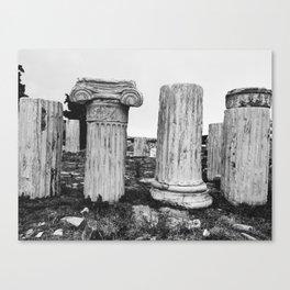 Ruined columns at the Parthenon Canvas Print