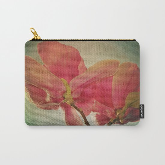 Vintage Spring Flowers Carry-All Pouch
