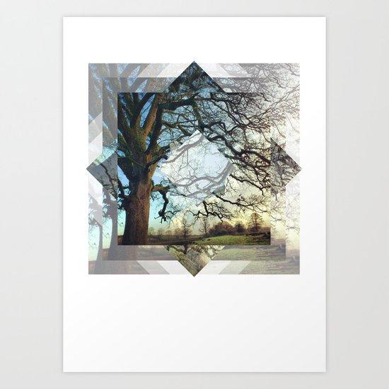 Geo Tree Art Print