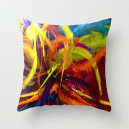 Colors of Carnaval Throw Pillow