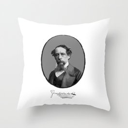 Authors - Charles Dickens Throw Pillow