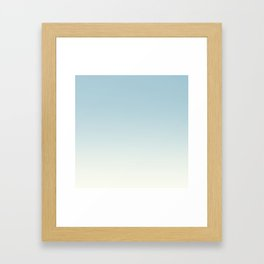 BLUE STRIKES - Minimal Plain Soft Mood Color Blend Prints Framed Art Print