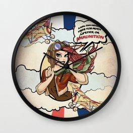 Bombin' Betty Wall Clock