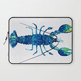 Navy Lobster, Indigo nautical Ocean life art, Lobster Laptop Sleeve
