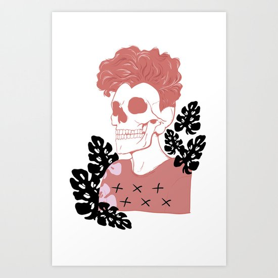 SKULL SHIT Art Print