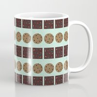 cookie monster Mugs featuring Cookie Monster (mint) by Sidrah  Mahmood