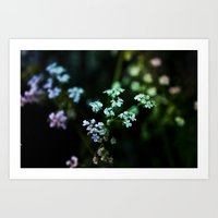 Funky Little Flowers Art Print