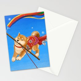 Koi Nobori Shiba Inu Stationery Cards