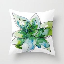 Echeveria Succulent Throw Pillow