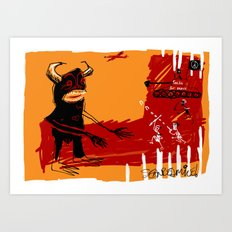 defeating the black monster Art Print
