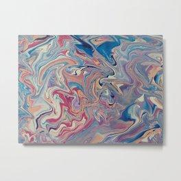Abstract pour Metal Print