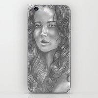 katniss iPhone & iPod Skins featuring Goodbye by ombradellaluna