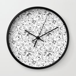 Dogs pattern Wall Clock