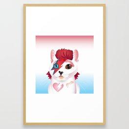 a cat insane Framed Art Print