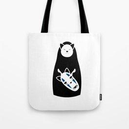 No Face Cat Tote Bag