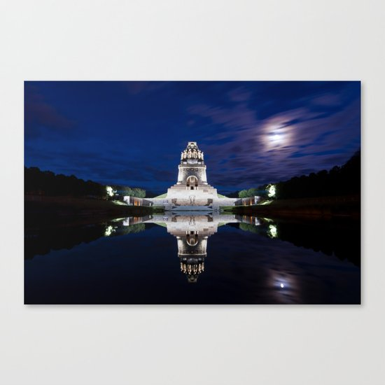 Monument of Battles of Nations- Germany - blue hour Canvas Print