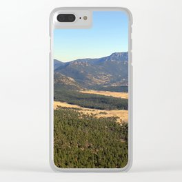 Colorado Mountains Clear iPhone Case