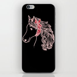 Horse Bandana Lover Pony Equestrian Mare Gift Pink iPhone Skin