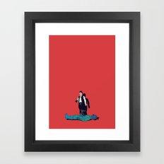 Over my dead body Framed Art Print