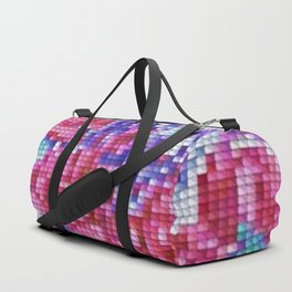 Carnation Cross Stitch Duffle Bag