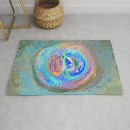 Abstract Multi-coloured Mandala 1308 Rug