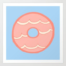 Pink Party Ring Biscuit Art Print