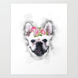 Frenchie Bulldog Art Print