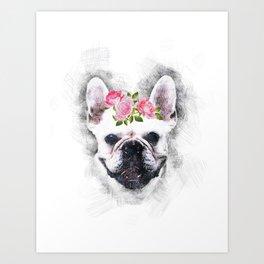 Frenchie Bulldog Art Print