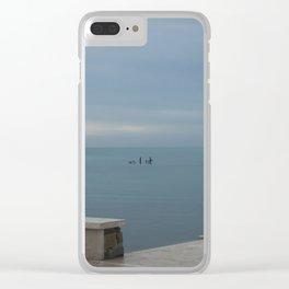 Winter sea Clear iPhone Case