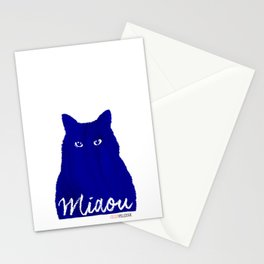 MIAOU bleu Stationery Cards