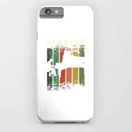Music Musicians Funny Pianist Vintage Musical Instrument Gift iPhone Case