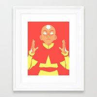 aang Framed Art Prints featuring Avatar Aang by lisaveeee