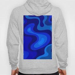 Multicolor Blue Liquid Abstract Design Hoody