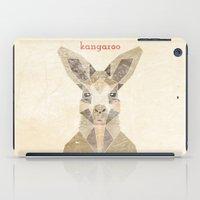 kangaroo iPad Cases featuring Kangaroo by Alice Maclean Smith