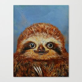 Baby Sloth Canvas Print
