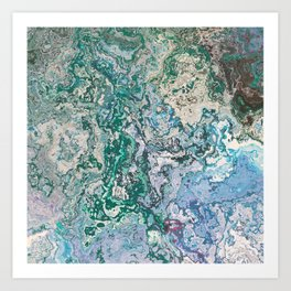 Melted Map Art Print