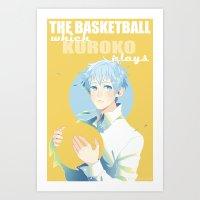 kuroko Art Prints featuring The Basketball Which Kuroko Plays by Alyssa Tye