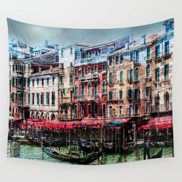 Venice Post Card Wall Tapestry
